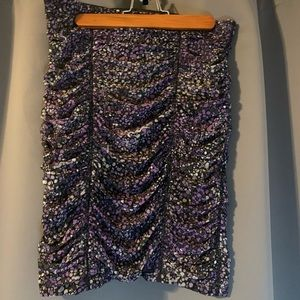 BCBGMaxariza purple tube skirt
